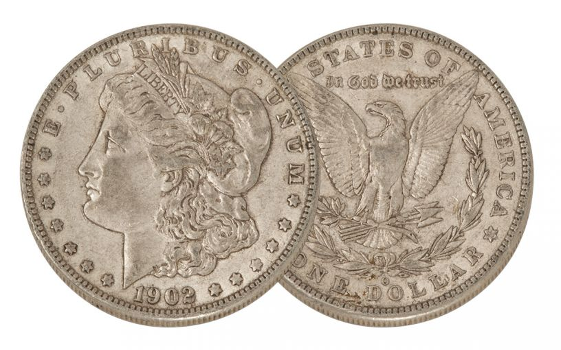 1902-O Morgan Silver Dollar XF