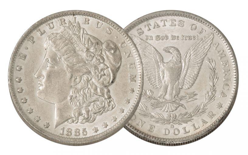1885-O Morgan Silver Dollar AU