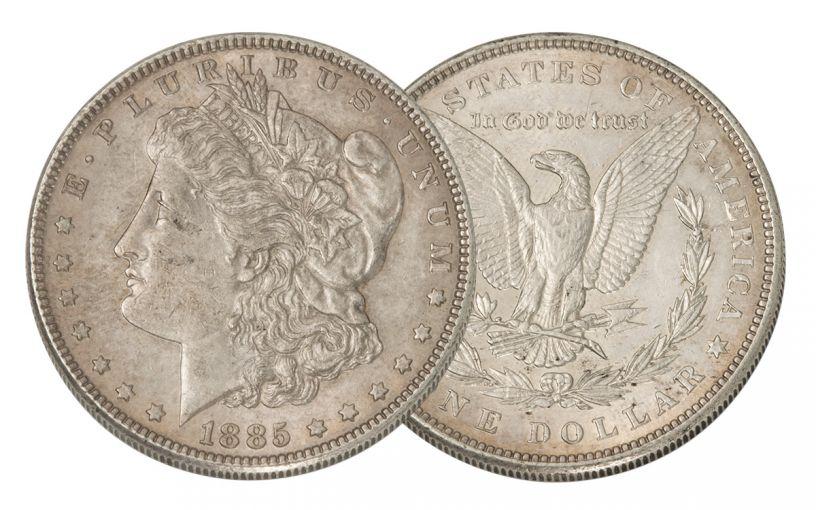 1885-P Morgan Silver Dollar AU