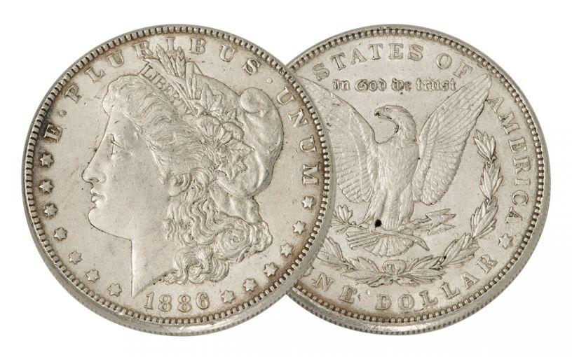 1886-P Morgan Silver Dollar AU