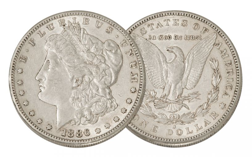 1886-S Morgan Silver Dollar AU