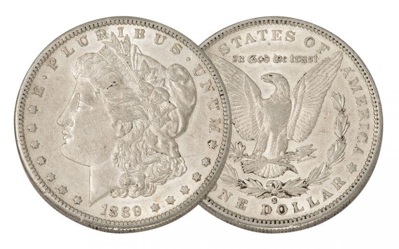 1889-S Morgan Silver Dollar AU