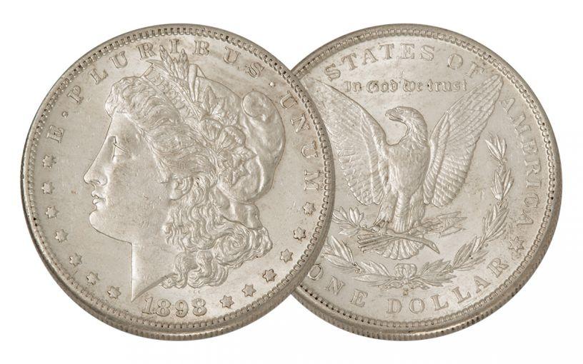 1898-S Morgan Silver Dollar AU