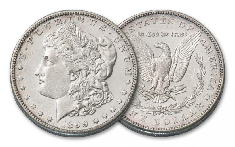 1899-S Morgan Silver Dollar AU
