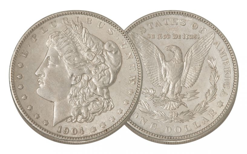 1904-P Morgan Silver Dollar AU