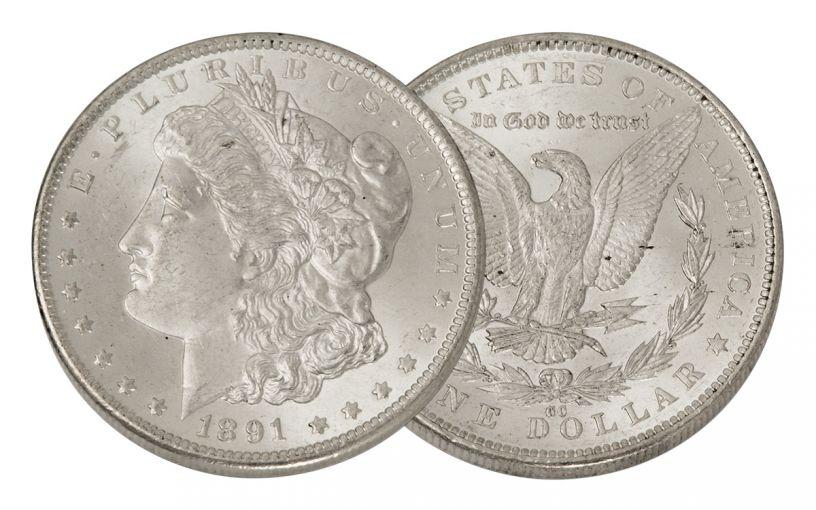 1891-CC Morgan Silver Dollar BU