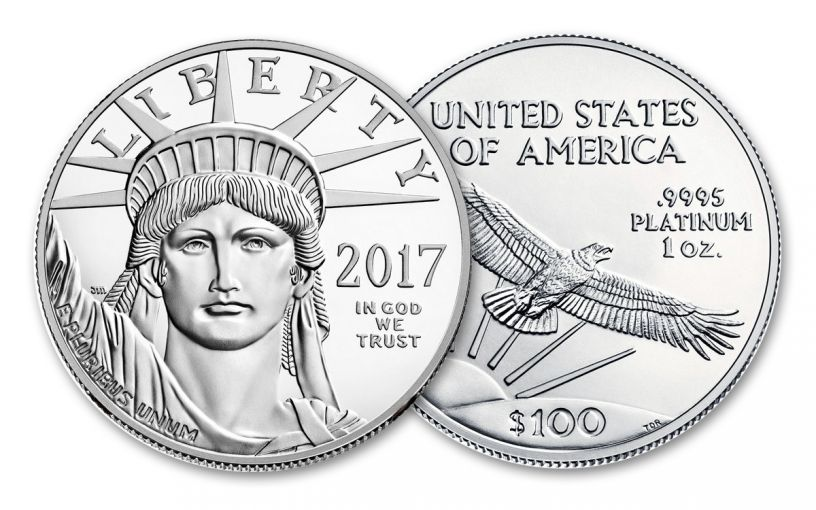 2017 100 Dollar 1-oz Platinum Eagle BU