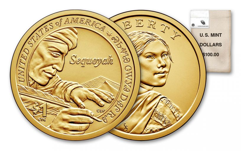 2017-P Sacagawea Dollar BU 100-Coin Bag