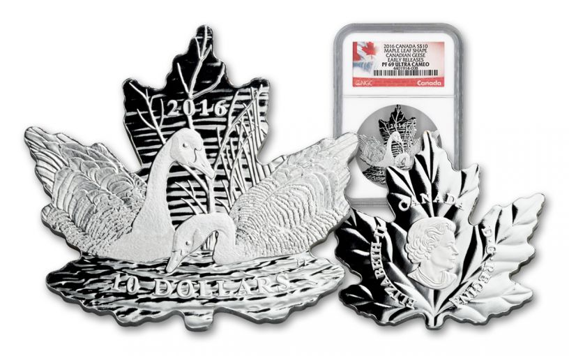 2016 Canada 10 Dollar Silver Maple Leaf Geese NGC PF69UCAM Early Releases