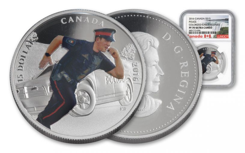 2016 Canada 15 Dollar Silver Heroes Police NGC PF70UCAM Early Release
