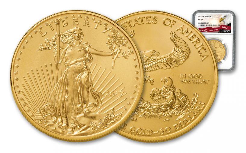 2017 $50 1-oz Gold Eagle NGC MS69 Eagle