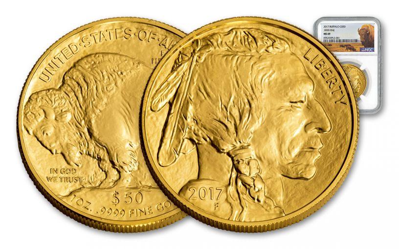 2017 $50 1-oz Gold Buffalo NGC MS69 Buffalo Label