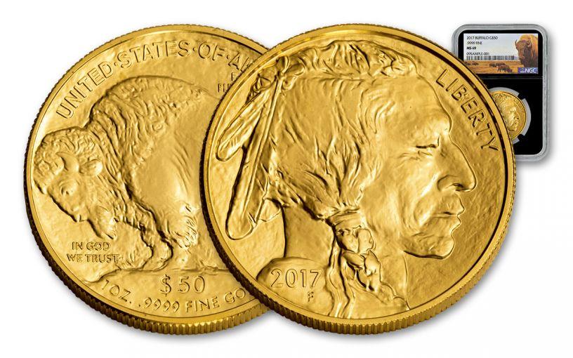 2017 $50 1-oz Gold Buffalp NGC MS69 Buffalo Black