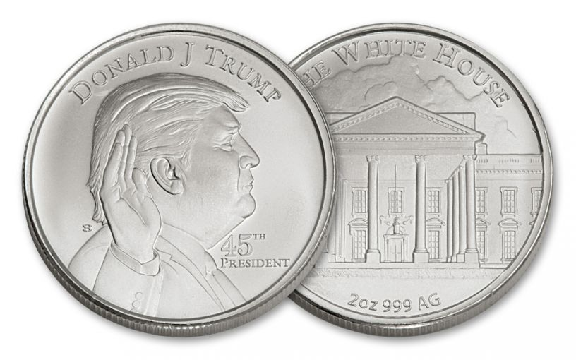 U.S. 2-oz Silver President Donald Trump High-Relief Round