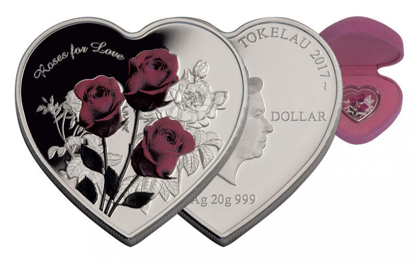 2017 Tokelau 1 Dollar 20 Gram Silver Roses for Love Proof