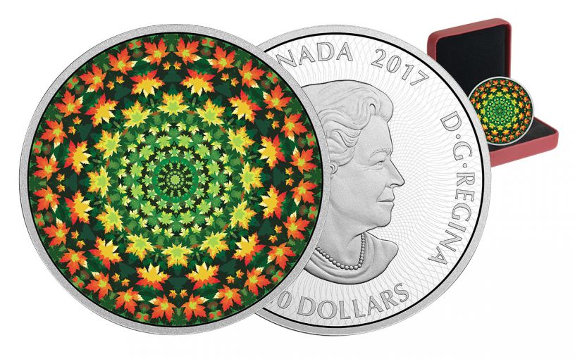 2017 Canada 20 Dollar 1-oz Silver Maple Leaf Kaleidoscope Proof