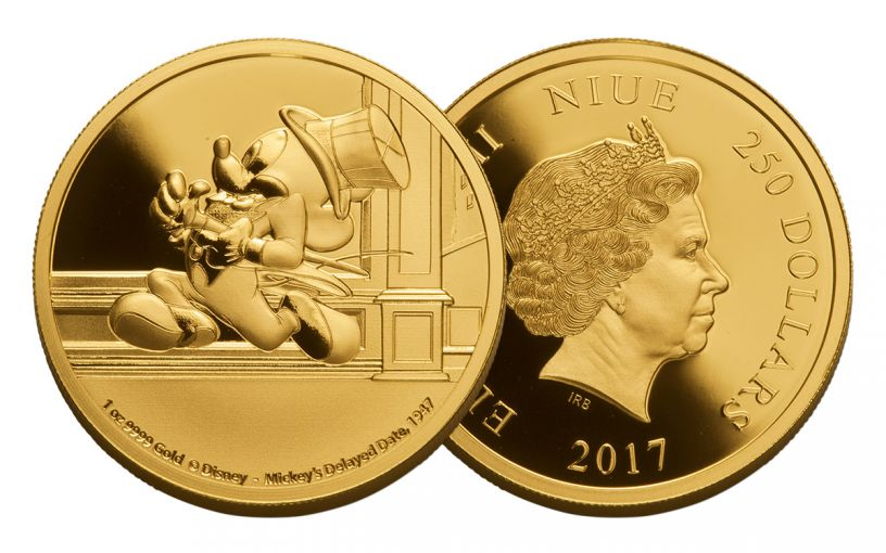 2017 Niue 1-oz Gold Mickey Delayed Date Proof