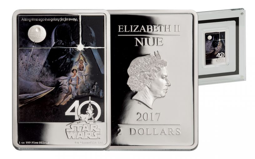 2017 Niue 1-oz Silver Star Wars 40th Anniversary Proof