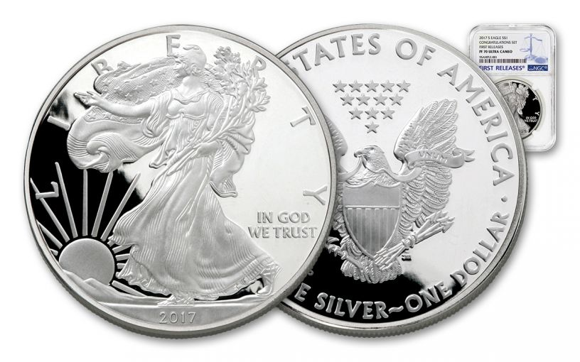 2017-S 1 Dollar 1-oz Silver Eagle NGC PF70UCAM First Releases