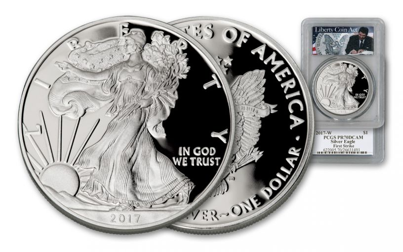 2017-W 1 Dollar 1-oz Silver Eagle PCGS PR70DCAM First Strike - Liberty Act