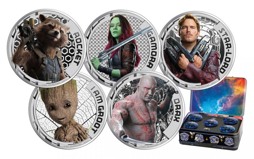 2017 2 Dollar 1/2-oz Silver Guardians of the Galaxy NGC PF70UCAM 5-Pc Set