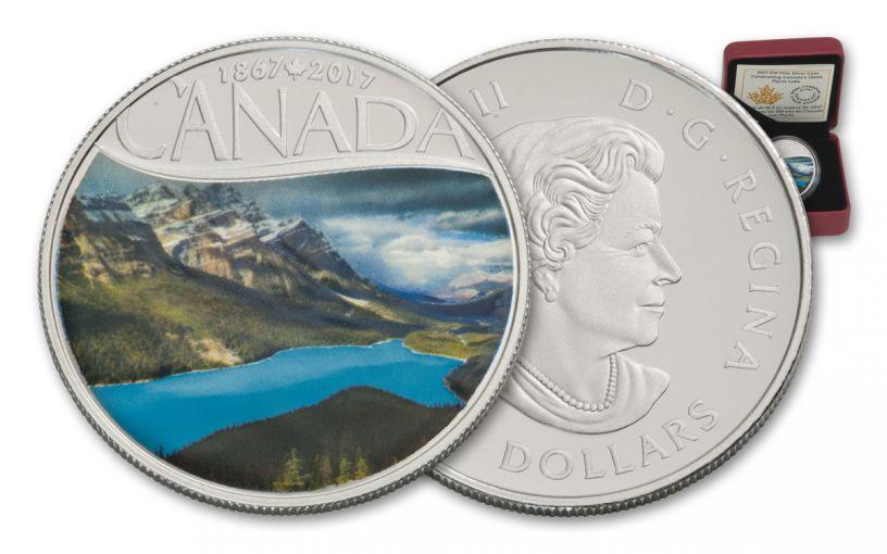 2017 Canada 10 Dollar Silver 150th Anniversary Peyto Lake Matte Proof