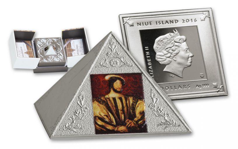 2016 Niue 15 Dollar 3-oz Silver Temple Of Art Pyramid Proof