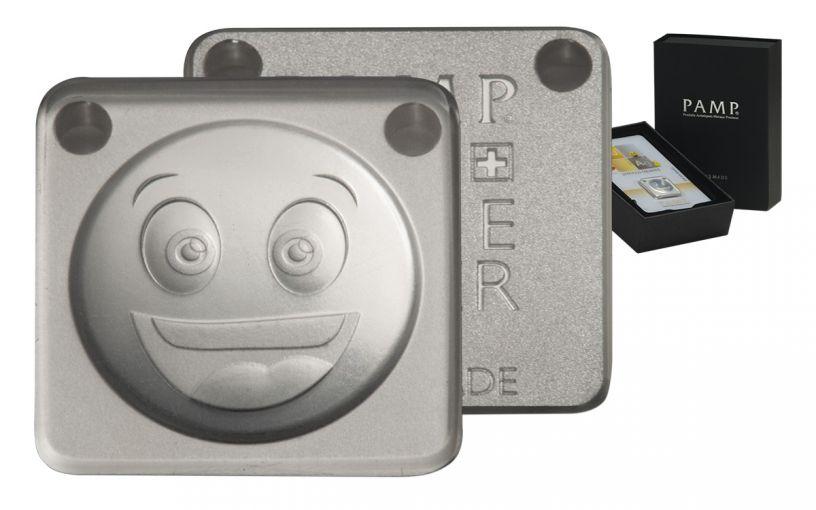 2017 PAMP 10-g Silver Emoji LOL Ingot Pendant