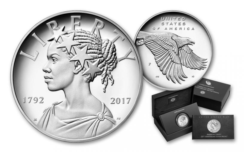 2017-P 1-oz Silver American Liberty Medal BU W/OGP