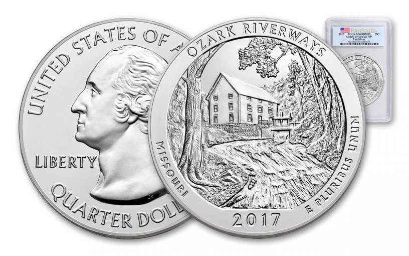 2017 5-oz Silver America the Beautiful Ozark National Scenic Riverways PCGS MS69DPL First Strike