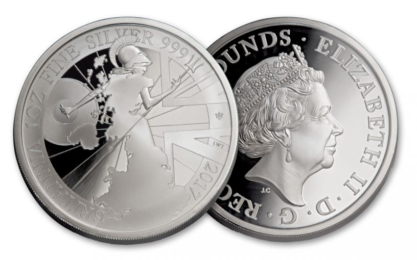 2017 Great Britain 2 Pound 1-oz Silver Britannia Proof
