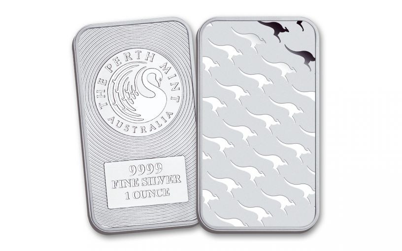 Australia 1-oz Silver Perth Mint Kangaroo Bar