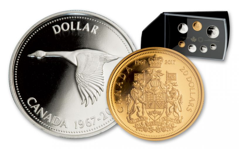 1967 Canada 7pc Silver Centennial Commemorative Set Proof