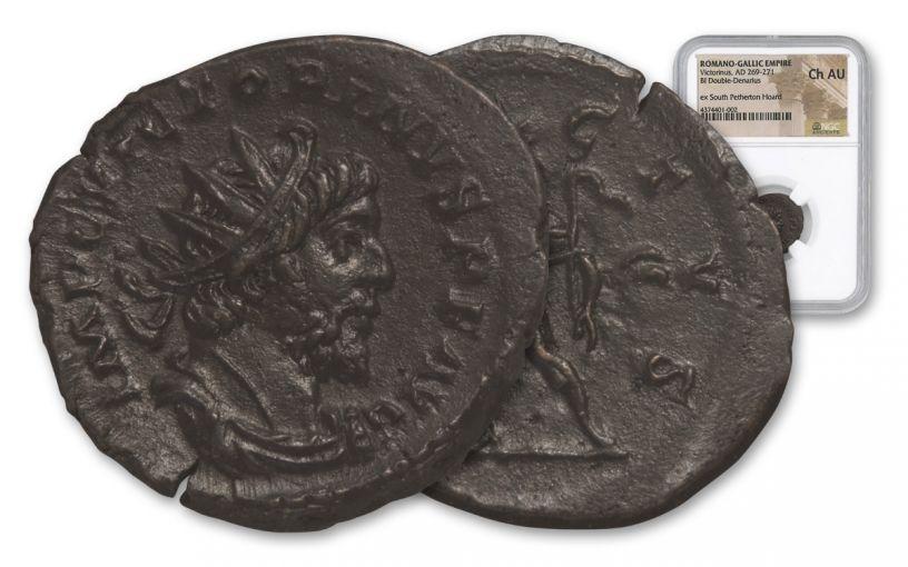 253-271 AD Roman Bronze South Petherton Hoard Victorinus NGC Choice AU