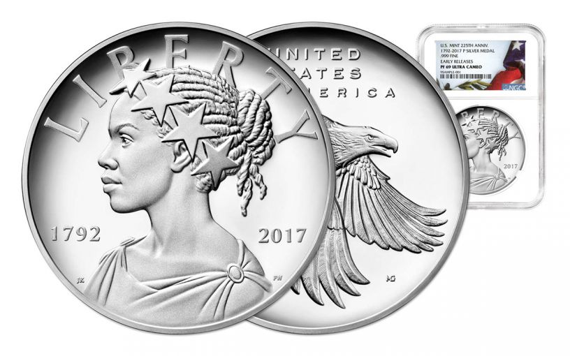 2017-P 1-oz Silver American Liberty Medal NGC PF69UCAM Flag