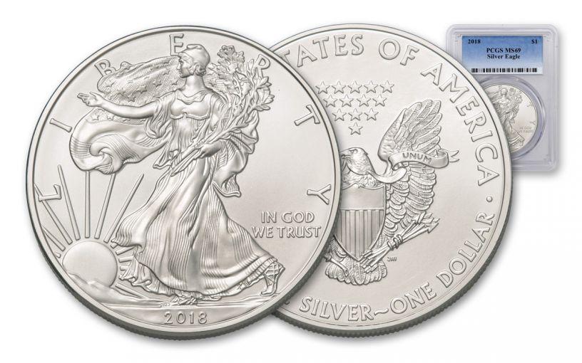 2018 1 Dollar 1-oz Silver Eagle PCGS MS69