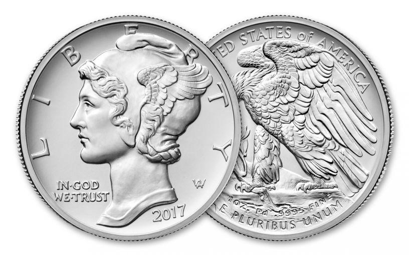 2017-P 25 Dollar 1-oz Palladium American Eagle High-Relief BU