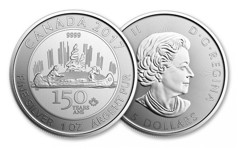 2017 Canada 5 Dollar 1-oz Silver Voyageur 150th Special Edition BU