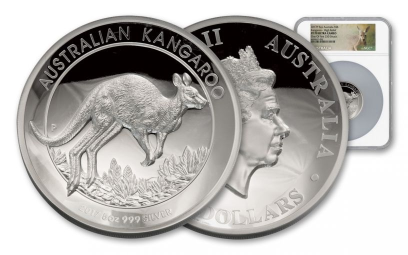 2017 Australia 5-oz Silver Kangaroo High Relief Proof NGC PF70UCAM - First Strike