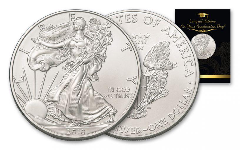 2018 1 Dollar 1-oz Silver Eagle BU Graduation