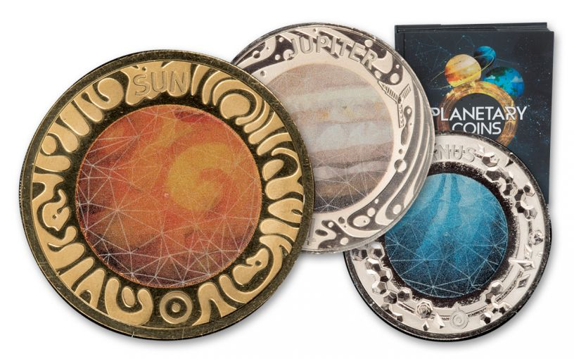 2017 Ram Planetary Coin Collection With Book 10pc