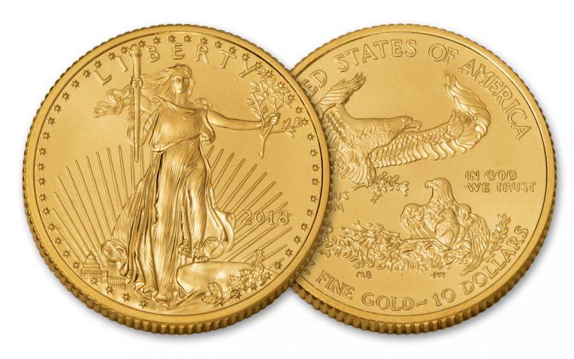 2018 10 Dollar 1/4-oz Gold Eagle BU