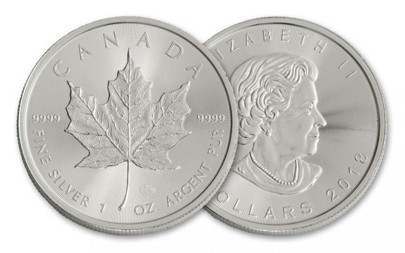 2018 Canada 1-oz Silver Maple Leaf Brilliant Uncirculated