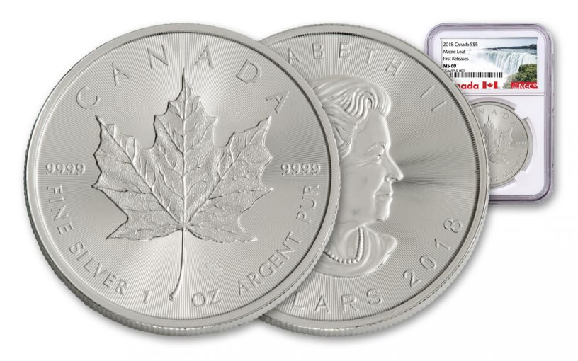 2018 Canada 1-oz Silver Maple Leaf NGC MS69 First Releases
