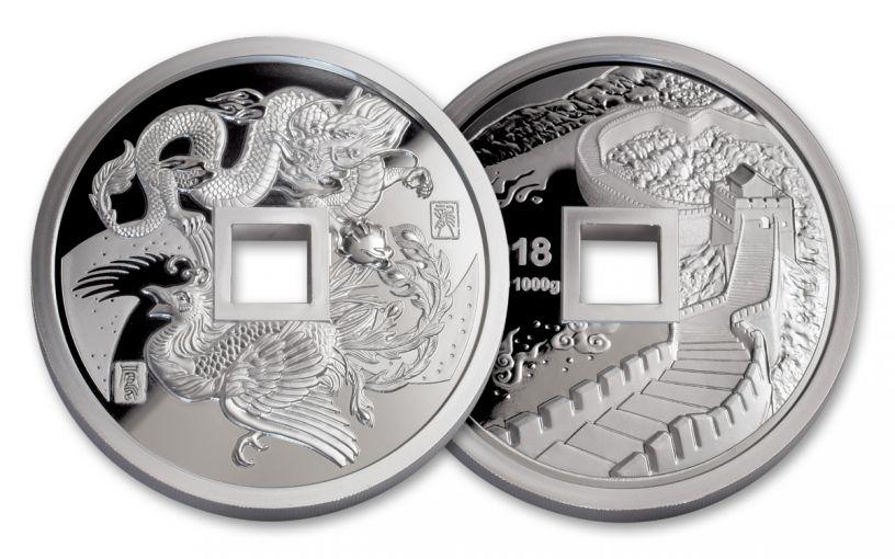 2018 China Kilo Silver Phoenix & Dragon Proof