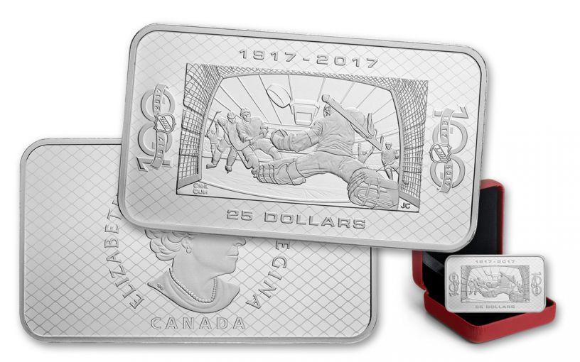 2017 Canada 25 Dollar 1.5-oz Silver 100th Anniversary of the NHL