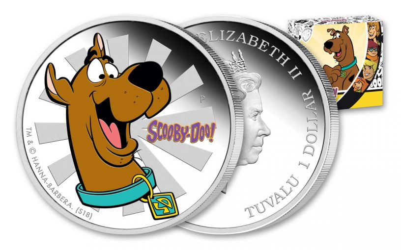 2018 Tuvalu 1 Dollar 1-oz Silver Scooby-Doo Proof