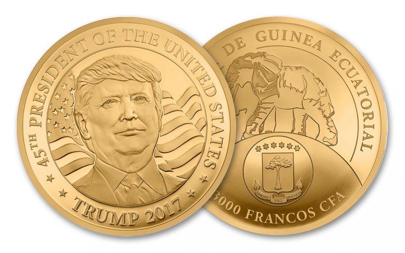 2017 1/10-oz Gold Donald Trump Inaugural Proof