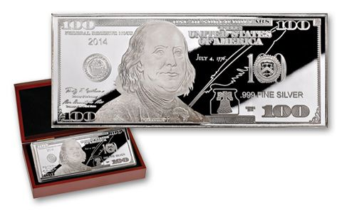 2014 100 Dollar Bill 1 Oz Silver Franklin Proof Govmint Com