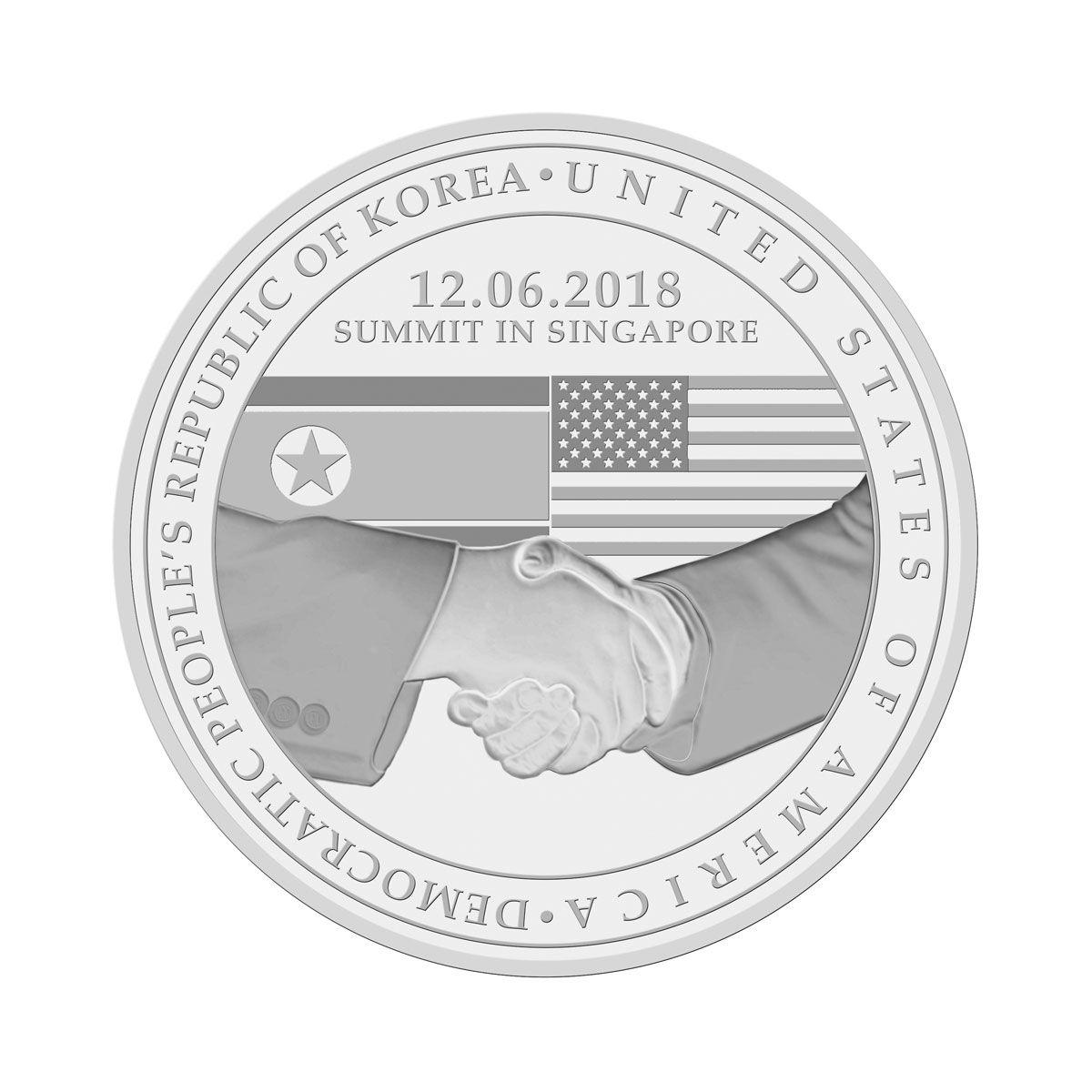 2018 United States North Korea Summit Proof Like Medallion